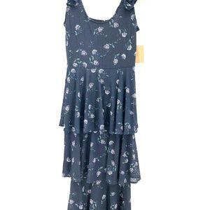Rachel Roy  XS Navy Blue Floral dress L1-09